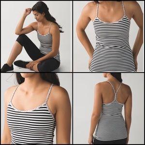 Lululemon Power Y Tank Top Luon Size 10 Run Yoga